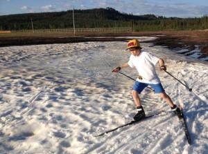 Malte på skidor